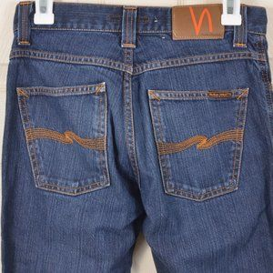 🇮🇹Nudie 29 Slim Jim Dry Broken Twill Cotton Jean